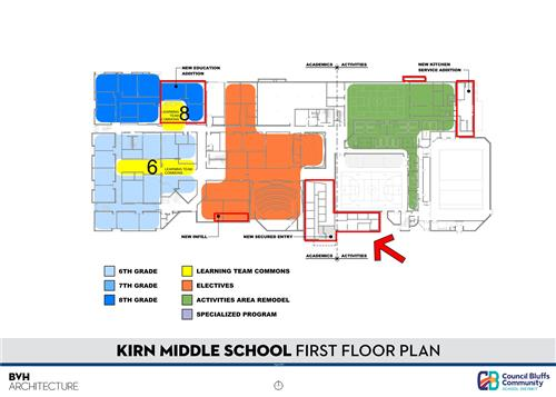 Floor Plan of Kirn MIddle School