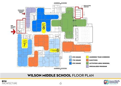 Floor Plan of Wilson Middle School
